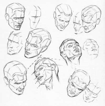 planes of the head in perspective   Sketch   Pinterest   Planes ...
