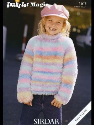 Funky Fur Magic Sweater 2103 From By Sirdar At Knittingfever