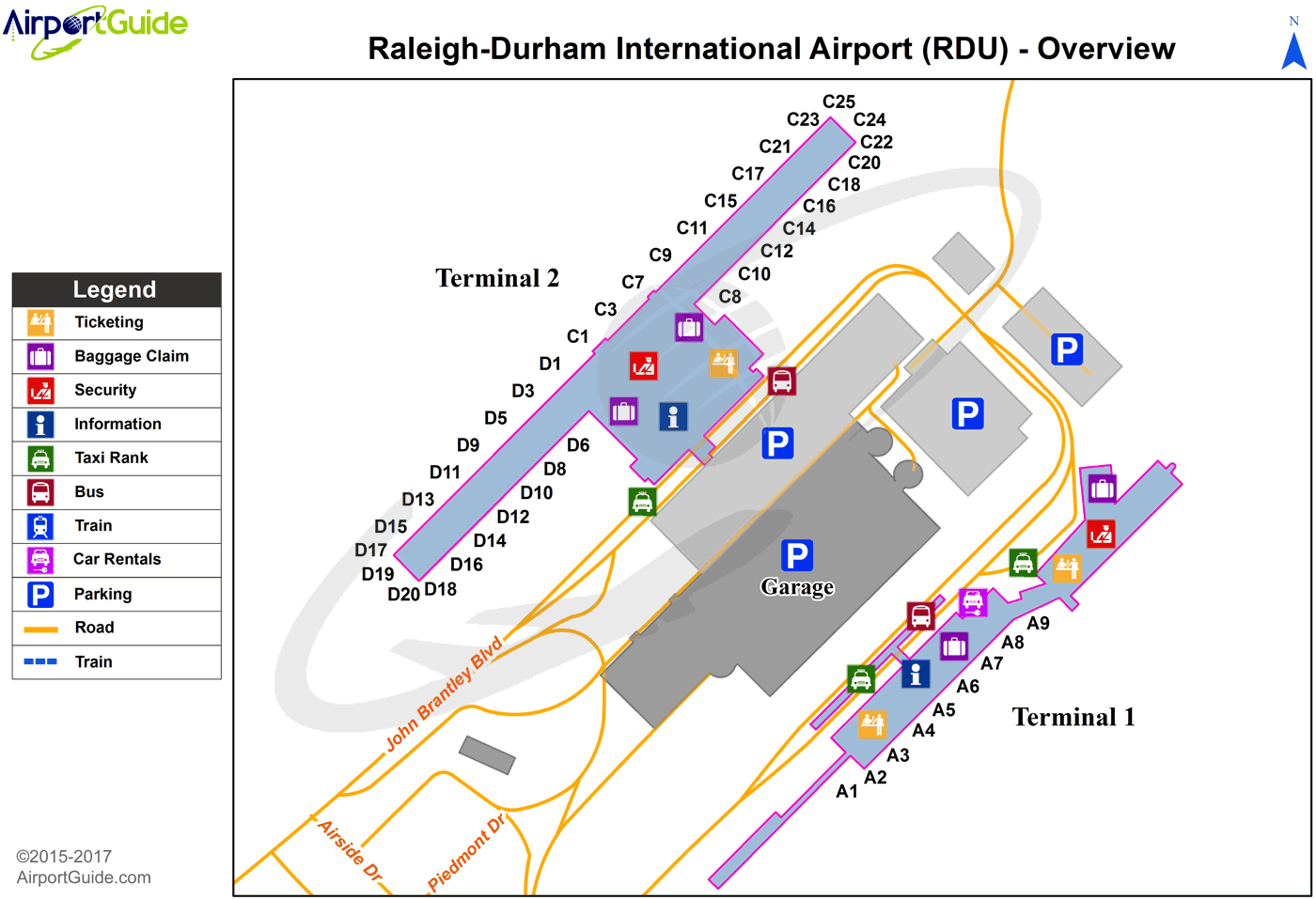 raleigh durham airport map Raleigh Durham Raleigh Durham International Rdu Airport raleigh durham airport map