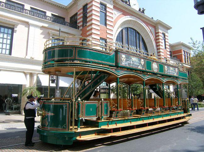 trolly cars | Replica Vintage Trolley Cars by John Smatlak