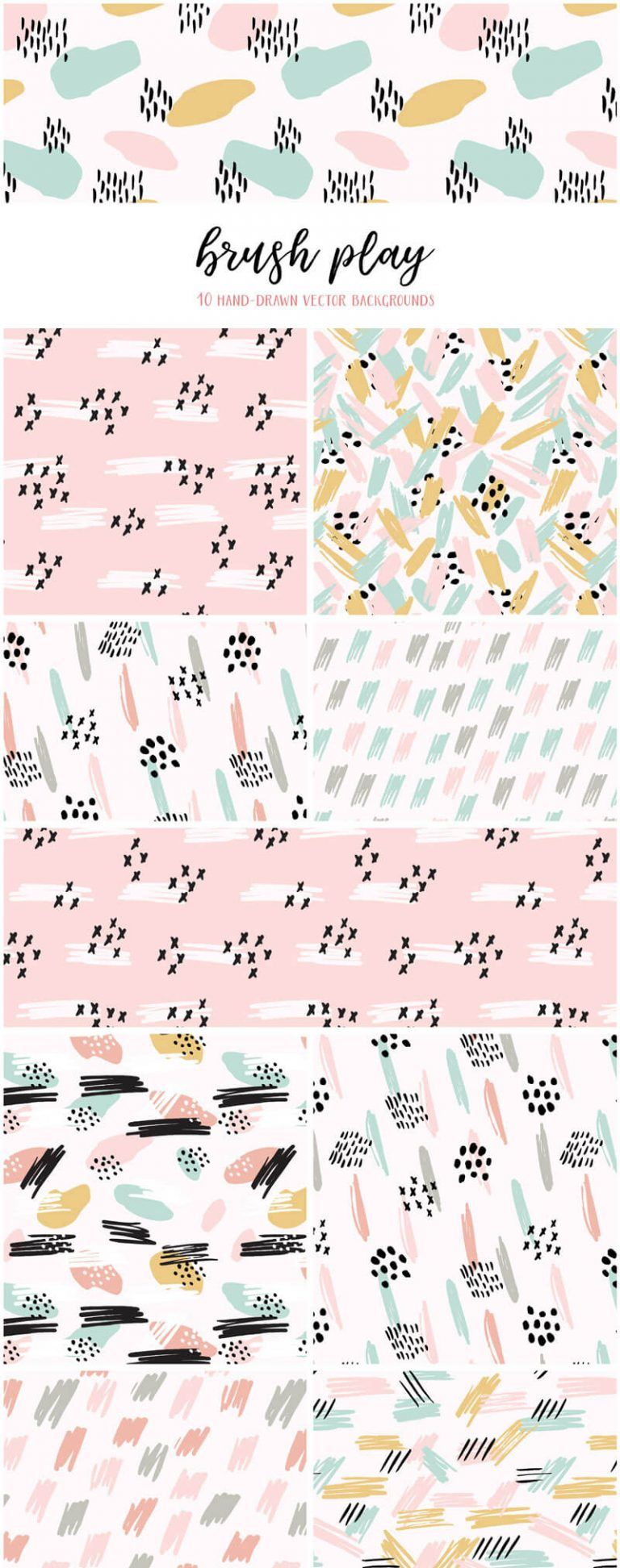 Brush Play Abstract Patterns #pastelpattern