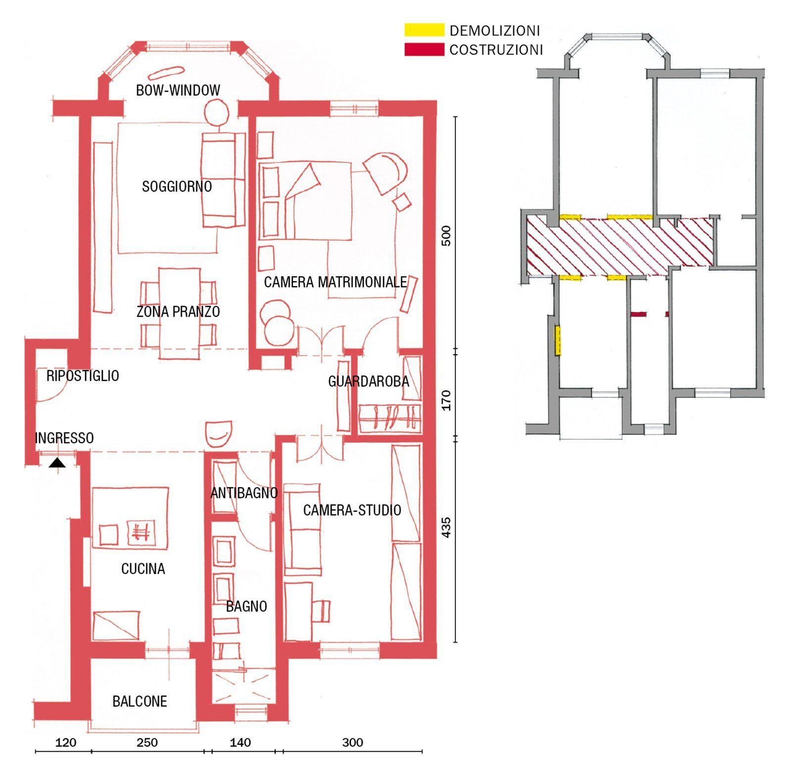 Progetto Appartamento 85 Mq 85 mq: una casa in stile classico contemporaneo