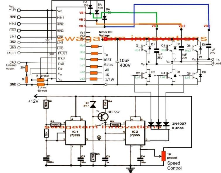Single Phase Variable Frequency Drive Vfd Circuit Circuit Projects Motor Speed Electronics Circuit