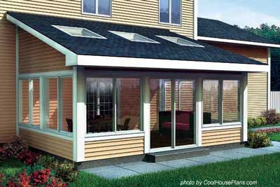 Cool House Plans Screened Porch Plan #90021