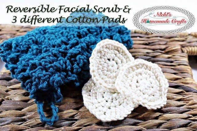 Tampons de coton et crochet pour gommage facial – artisanat maison de Nicki   – C,K & T Charts, Lessons, Patterns & Stitches
