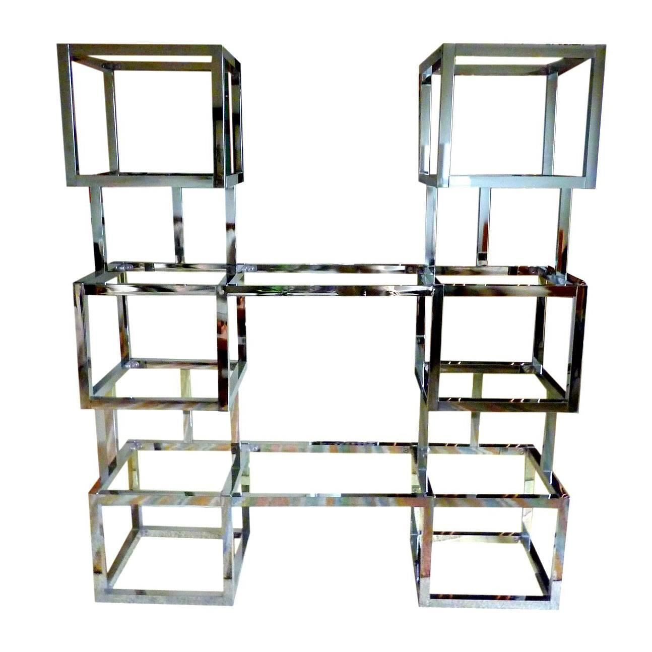 Nice Chrome And Glass Etagere | See More Antique And Modern Bookcases At Https://