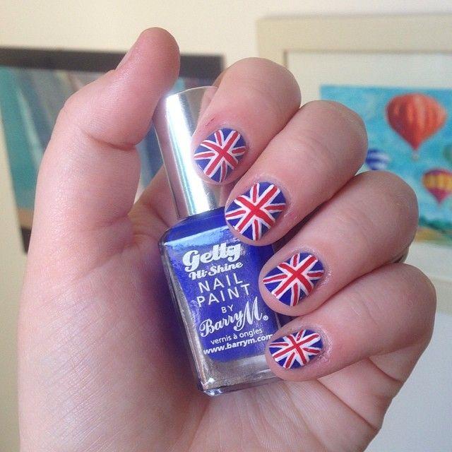Nnmnails On Instagram Union Jack Uk Flag Nail Art Nail Art