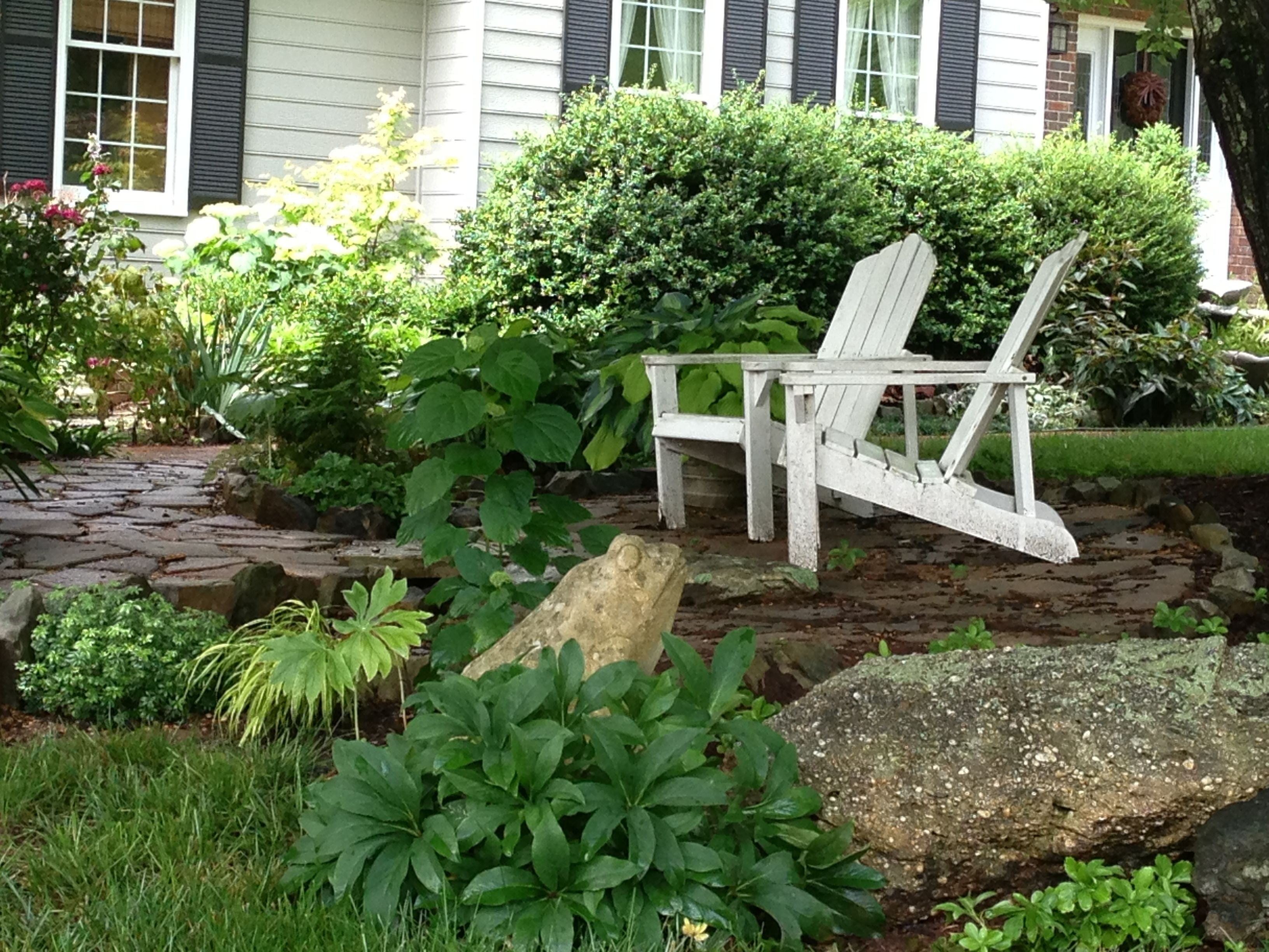 front yard seating area garden
