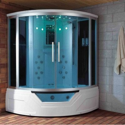 Luxury Steam Shower Whirlpool Tub Aromatherapy Mood Lighting Phone Tv Massage Steam Showers Whirlpool Tub Bathroom Decor Luxury