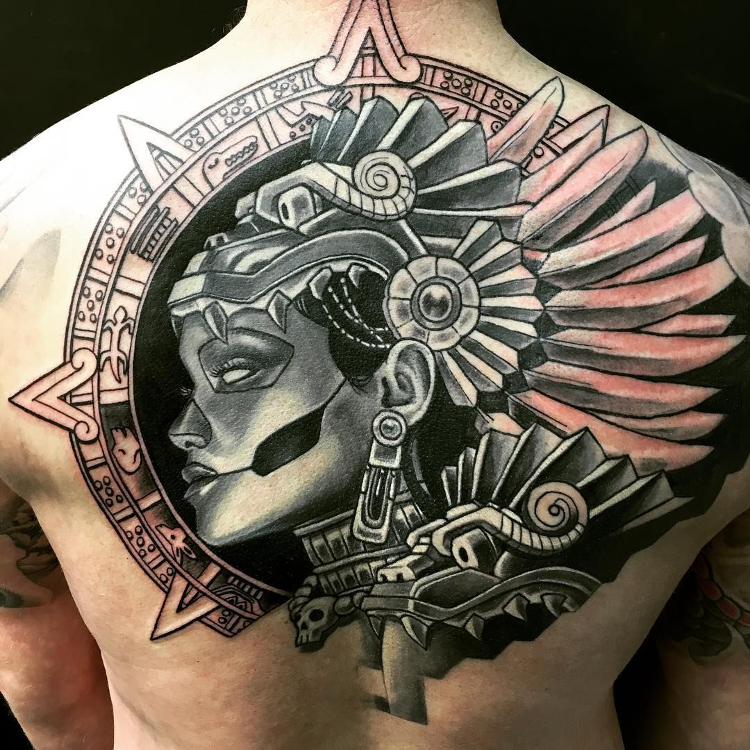 50 symbolic mayan tattoo designs fusing ancient art with for Modern art tattoo