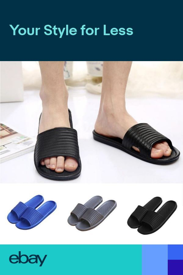 6257436bf Men Stripe Flat Bath Slipper Summer Sandals Indoor   Outdoor Home Beach  Slipper -  Bath
