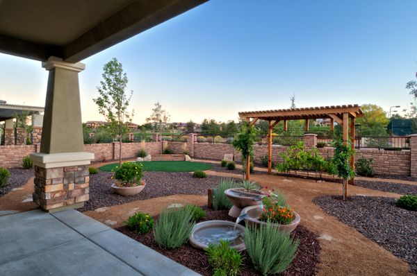 The Backyard Of The Luxury Home Model, Augusta, By Dorn