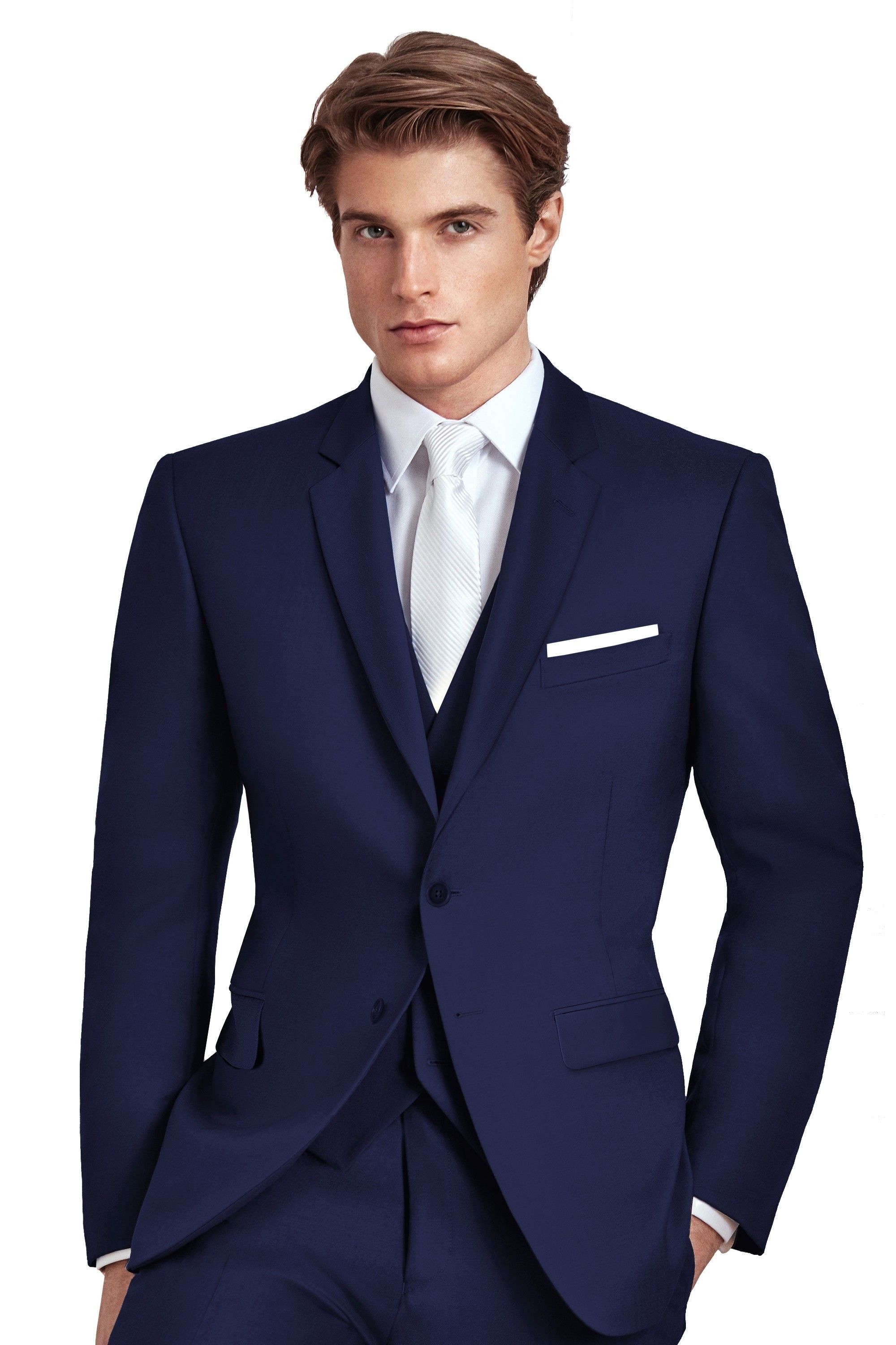 Colin by Ike BeharTuxedo Central. Navy blue Slim Fit