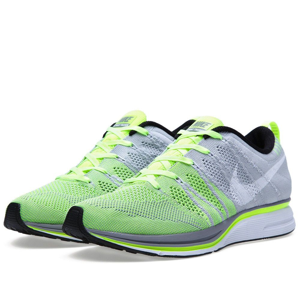 22a8a7be1e8 ... black volt white ad6e4 buy nike flyknit trainer volt white fa593 472af  ...