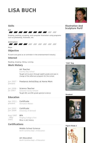 Resume Templates Teachers Art Teacher Resume Example  Resumes  Pinterest  Cv Examples