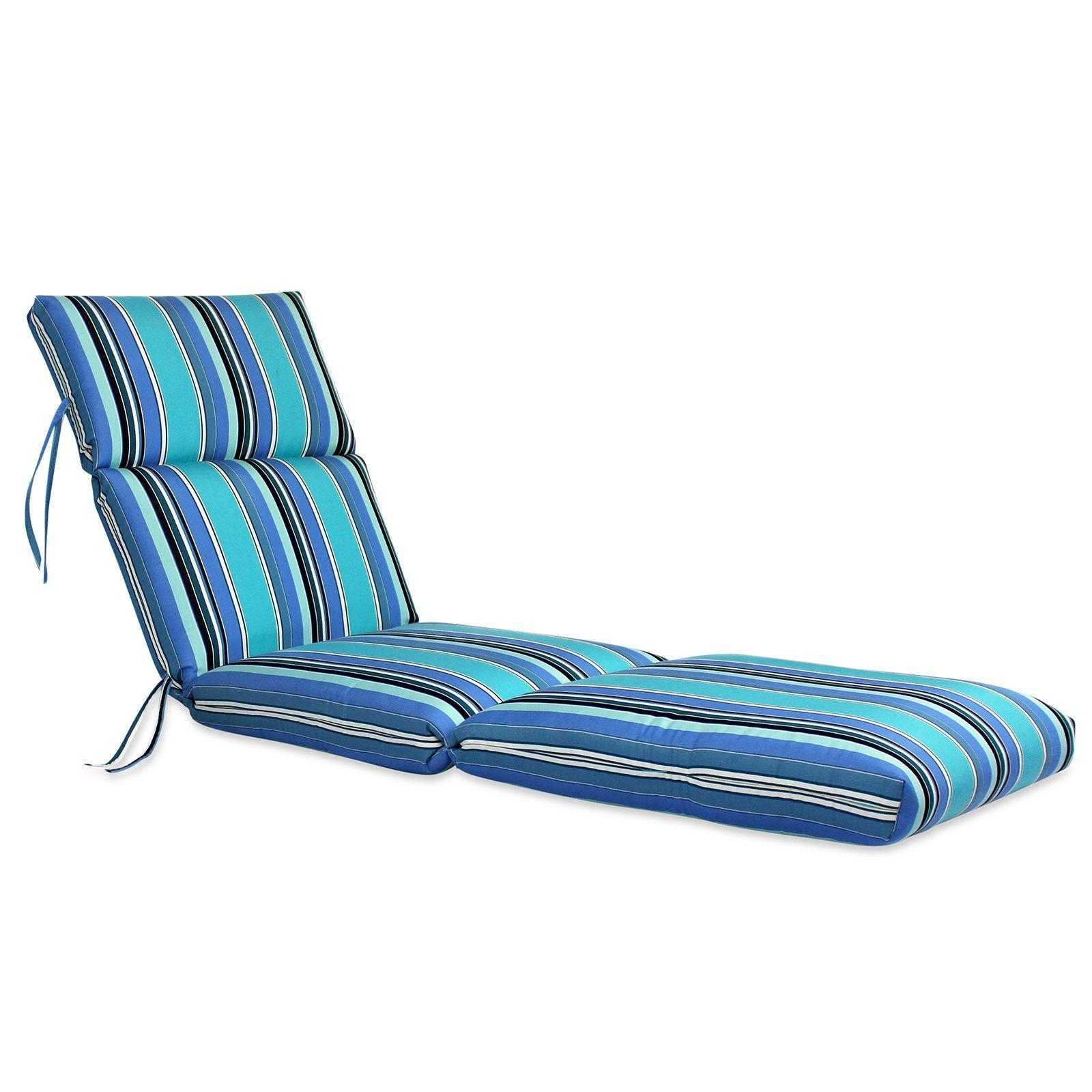 Comfort Classics 72 X 22 In Sunbrella Channeled Chaise Lounge
