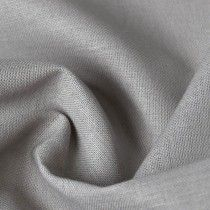 Plain Cotton Linen Fabric Grey 147cm