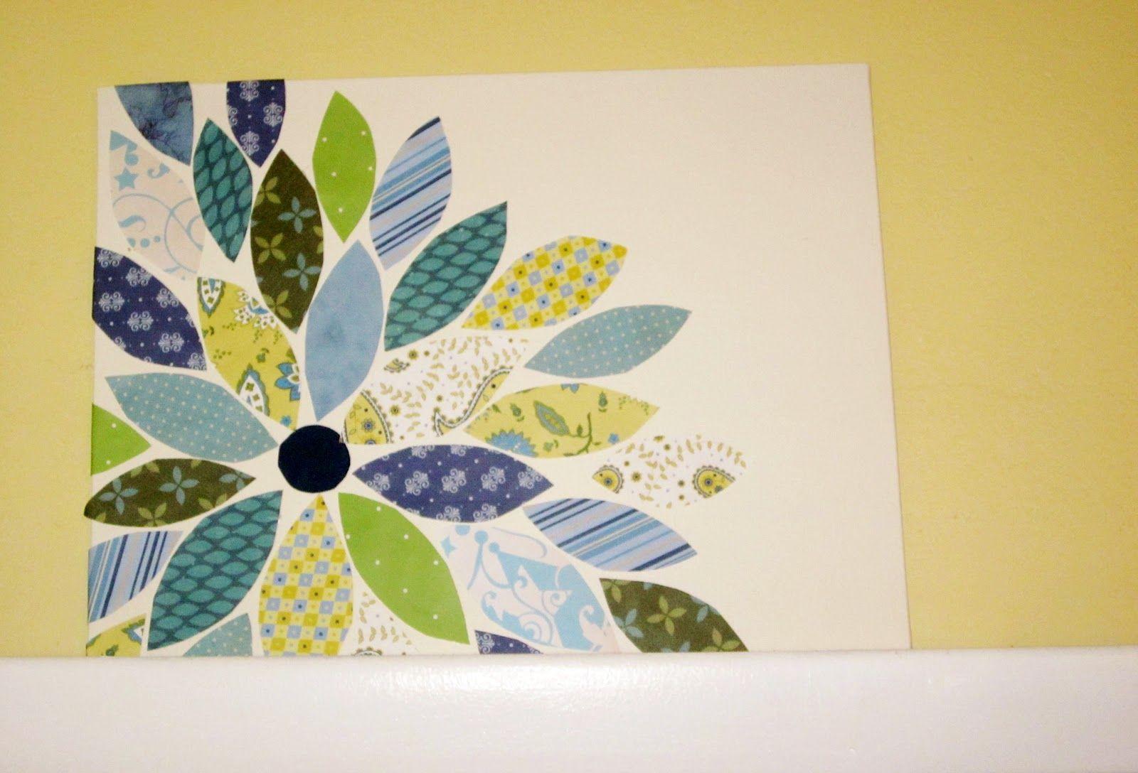 Enchanting Diy Wall Decor Scrapbook Paper Composition - Wall Art ...