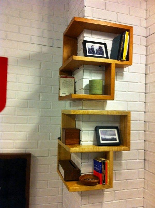 Contemporary Corner Shelf a modern corner shelf for your home! - http://decor10blog