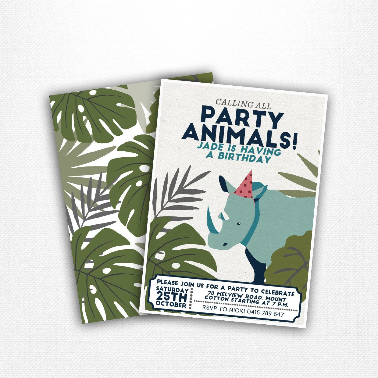 Vintage Safari Party Animals Invitations By Pennypaperiedesigns On