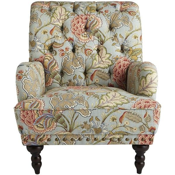 Pier 1 Imports Chas Armchair Blue Meadow Polyvore Furniture Floral Armchair Leather Dining Room Chairs #pier #one #living #room
