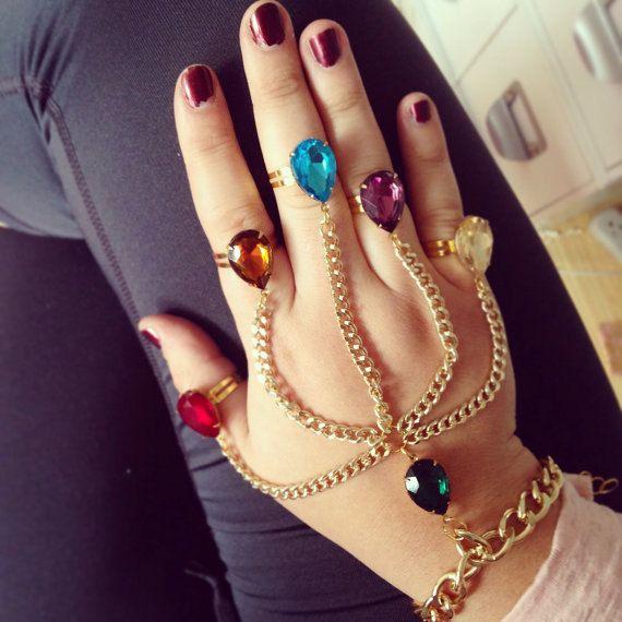 Thanos Gauntlet Hand Chain Bracelet Avengers The Infinity War Stones Cosplay Hot