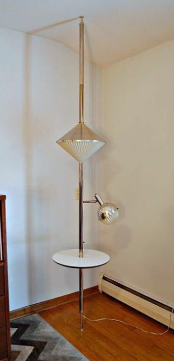 Amazing Tension Pole Lamp Table