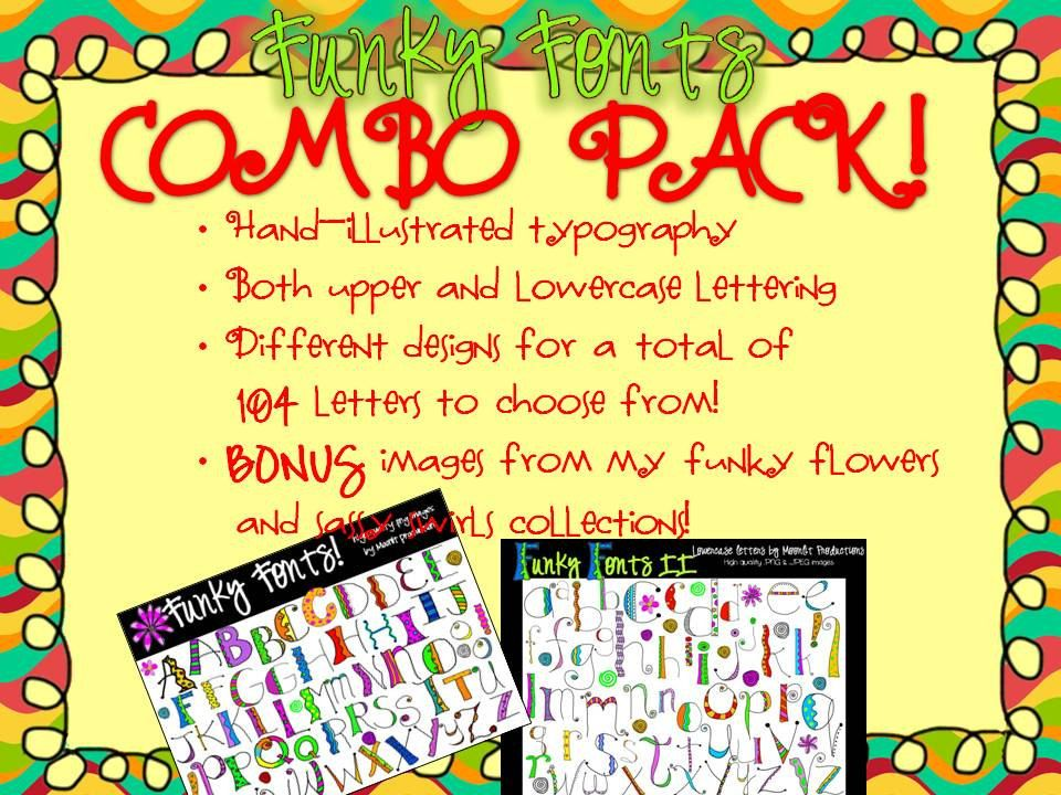 Download Funky Fonts - COMBO PACK - save $ with this download that ...