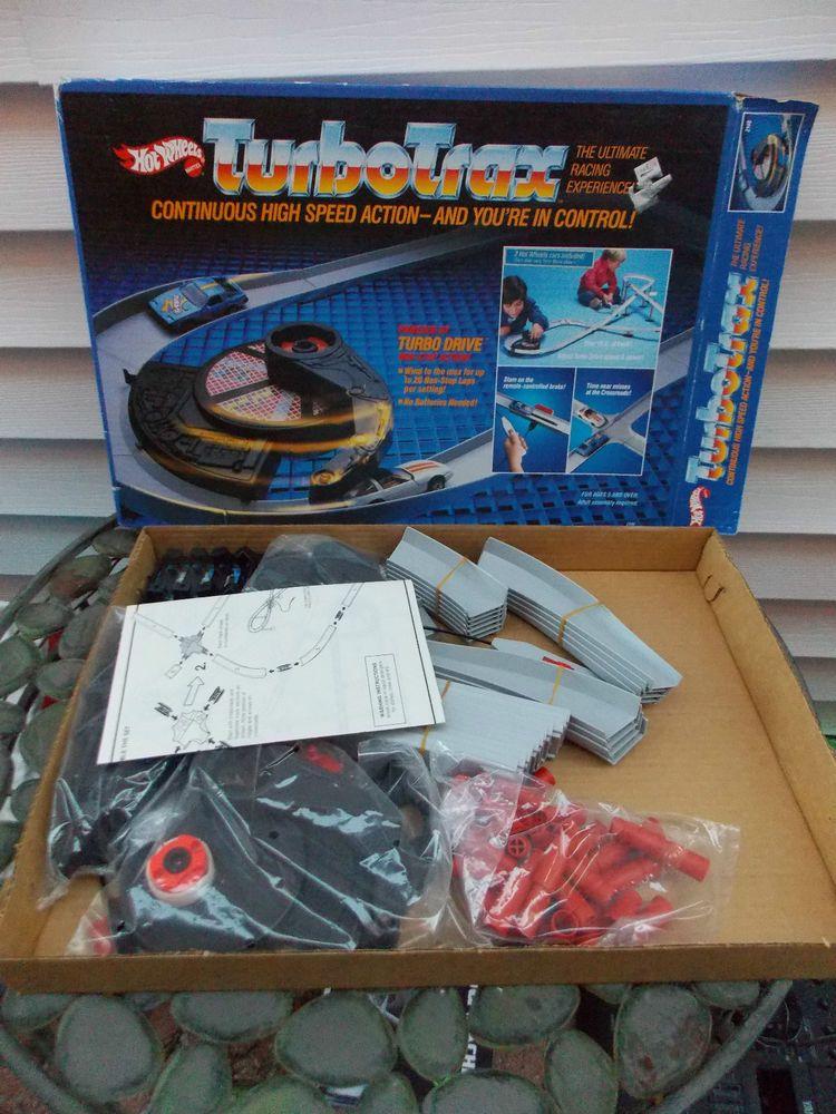 Vintage Hot Wheels 1985 TURBO TRAX TURBOTRAX Set IN BOX No