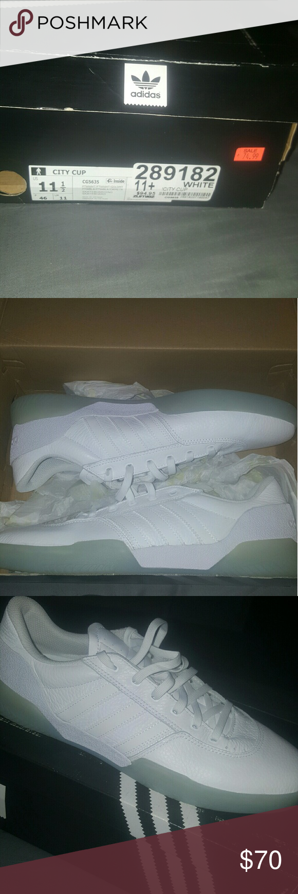 81fc407aa50 ADIDAS City Cup White and White Ice shoes 🔥 Never been used