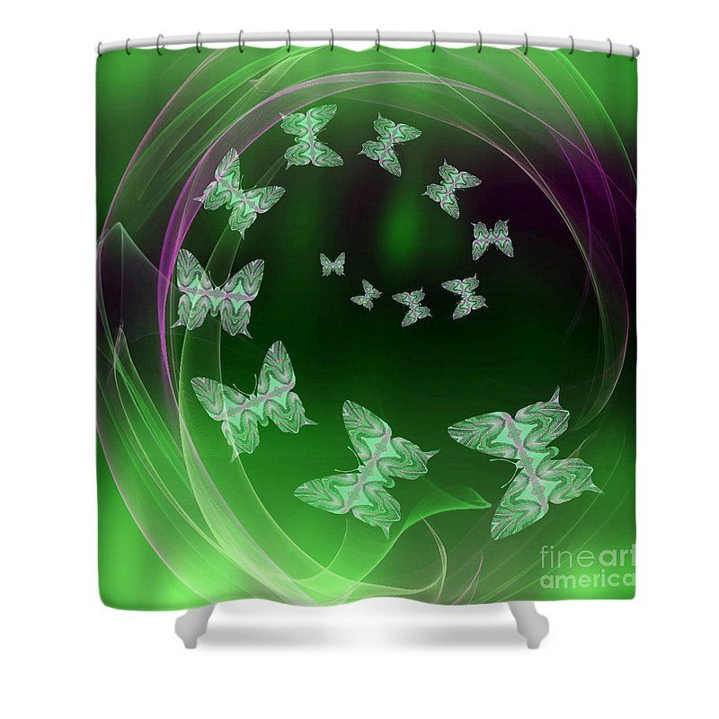 Come Fly With Me Green Shower Curtain For Sale By Rachel