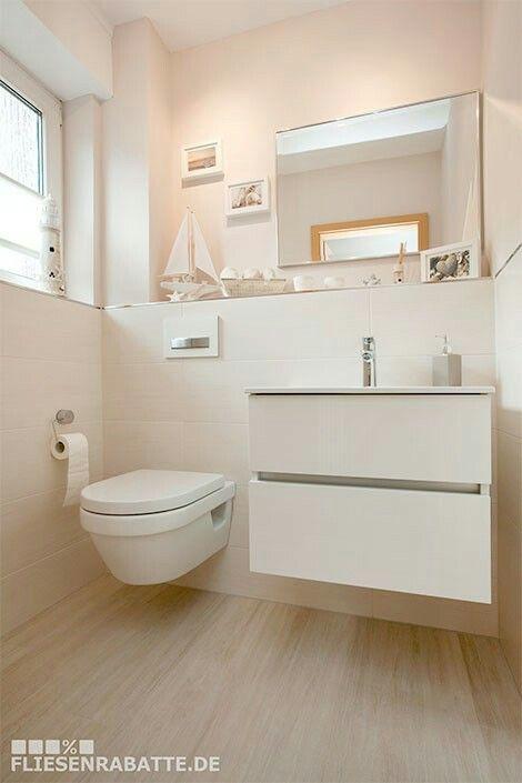 kleines badezimmer natuerlich modern holz grau naturstein - Google ...