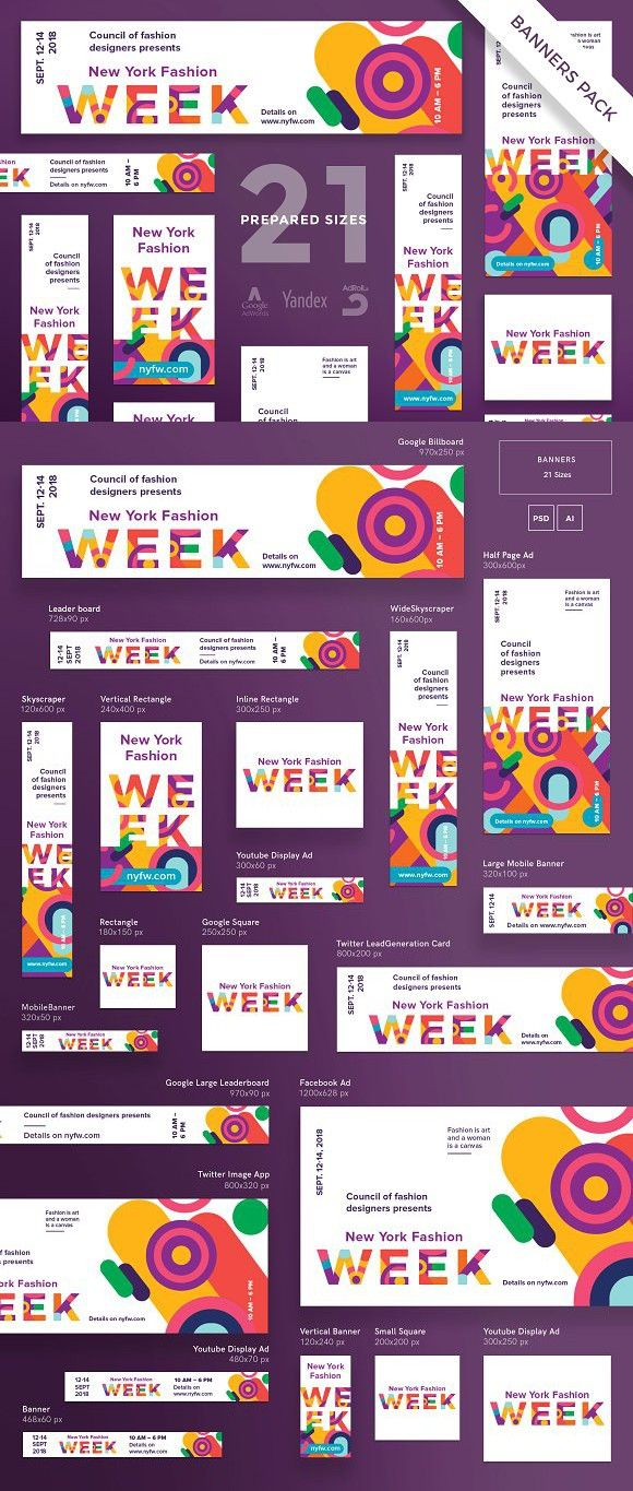 Banners pack fashion week billboard templates billboard banners pack fashion week billboard templates spiritdancerdesigns Image collections