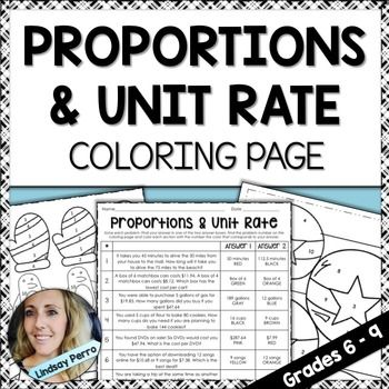 Proportions And Unit Rate Coloring Worksheet Unit Rate Color Worksheets Word Problems Worksheets on unit rates