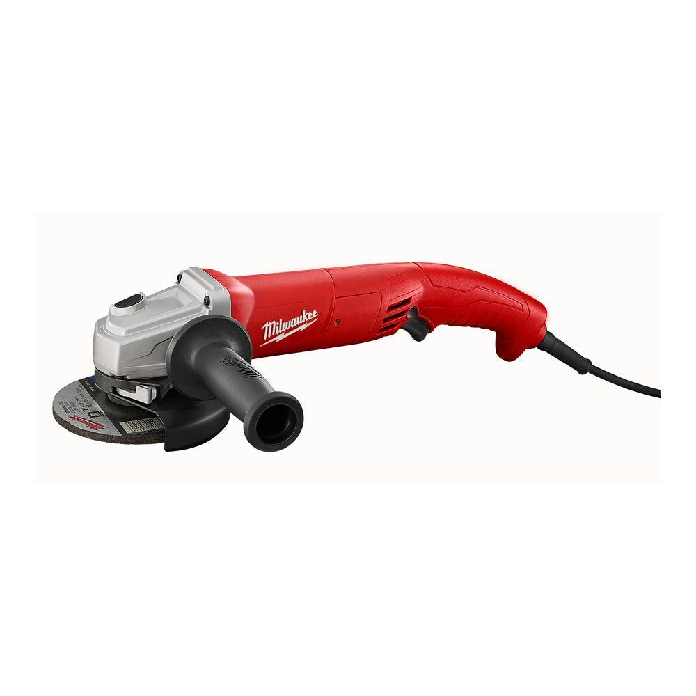 Milwaukee 11 Amp 5 In Ac Dc Small Angle Grinder With Trigger Grip 6121 31a The Home Depot In 2021 Angle Grinder Milwaukee Electric Tools