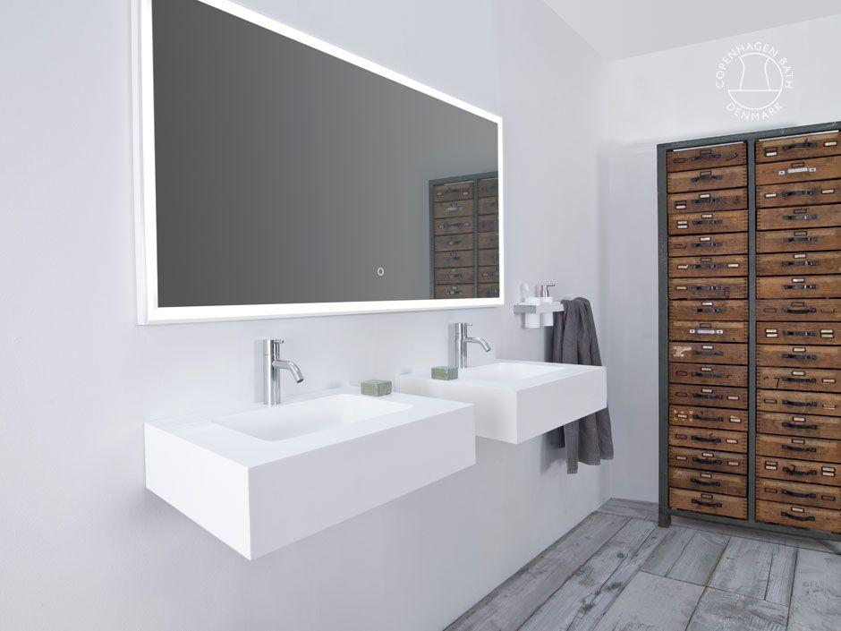 """Furesø 80"" wash basin from Copenhagen Bath."