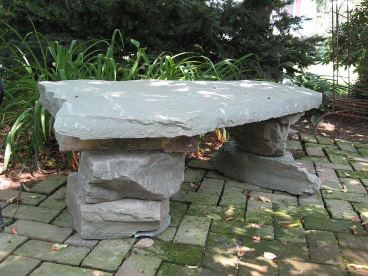 Image Result For Sitting Places In Front Yard · Stone BenchGarden ...