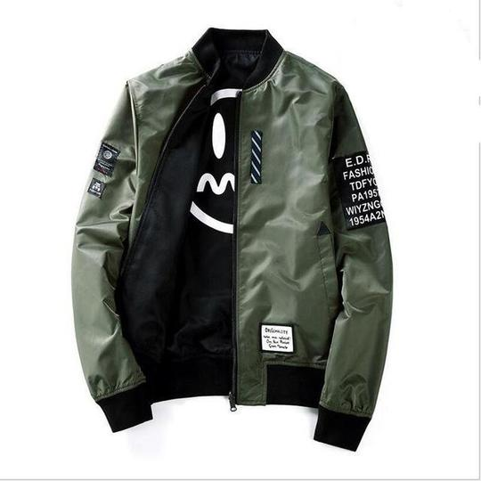 High Quality Winter Army Green Military red varsity Flight