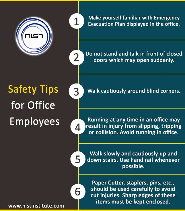Safety Tips For Office Employees Www Nistinstitute Com Safety Tips Office Employee Nist Safety Tips
