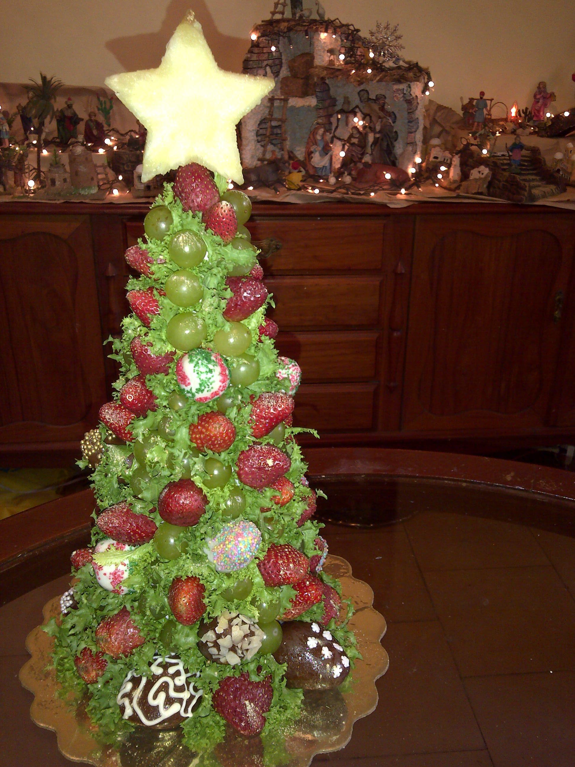 Perfecto para decorar la mesa en la cena navideña...fresas naturales ...