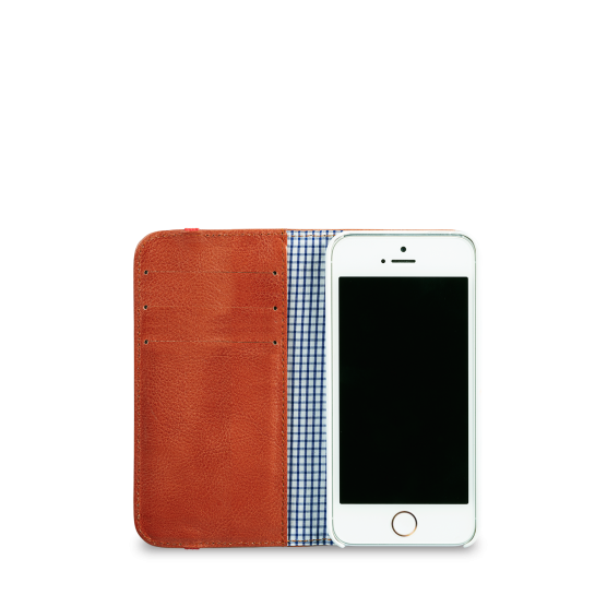 Flip Wallet: Mens & Womens Leather Cover Case For iPhone 5/5s & Samsung Galaxy S4.