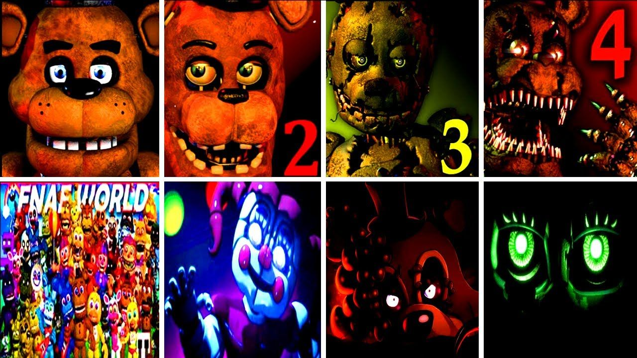 50+ JUMPSCARES Five Nights at Freddy's 6 FNAF 1 2 3 4 SL