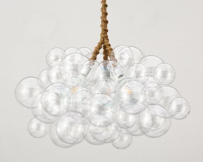 Der 25 Bubble Kronleuchter (18 Durchmesser) • Custom Cord Optionen • LED-Licht • Deckenleuchte • Moderne Kronleuchter #bubblekronleuchter