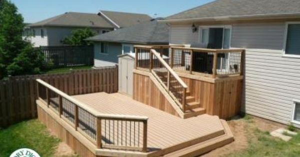 Pin By Michelle Ames On For The Home Deck Designs Backyard Decks Backyard Multi Level Deck