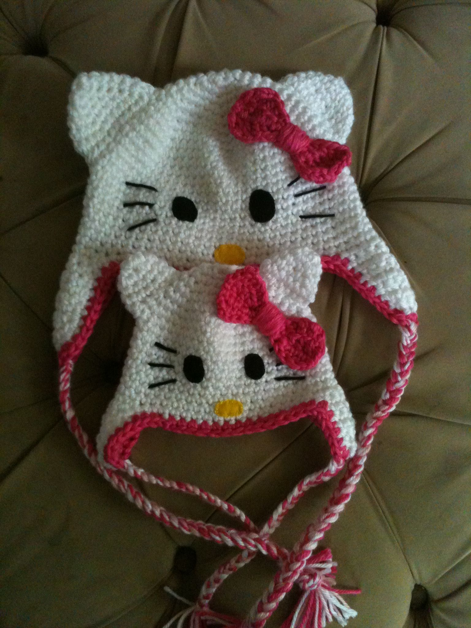 Hello Kitty Hats Matching Set For Mom And Baby Soon To
