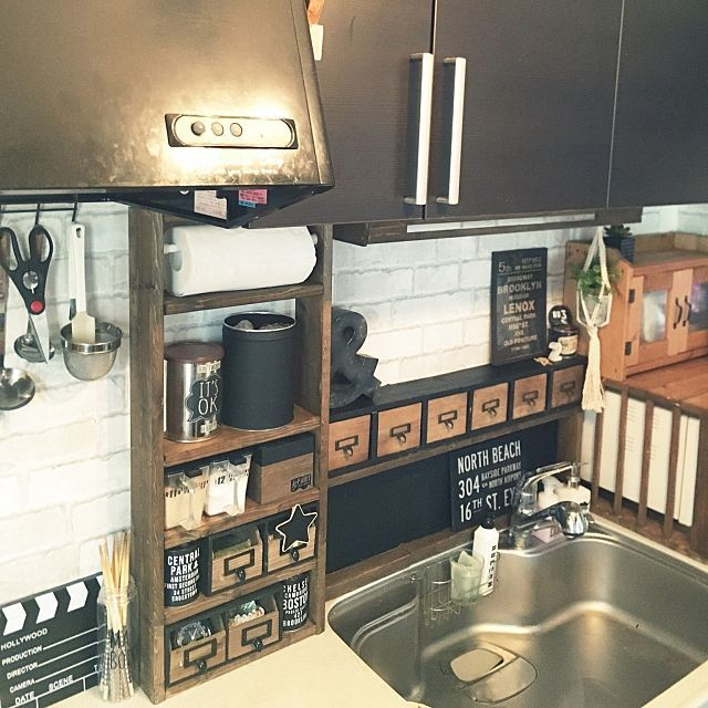 キッチンカウンターから100均収納まで マネしたいdiy実例52選 キッチン Diy キッチンカウンター キッチン