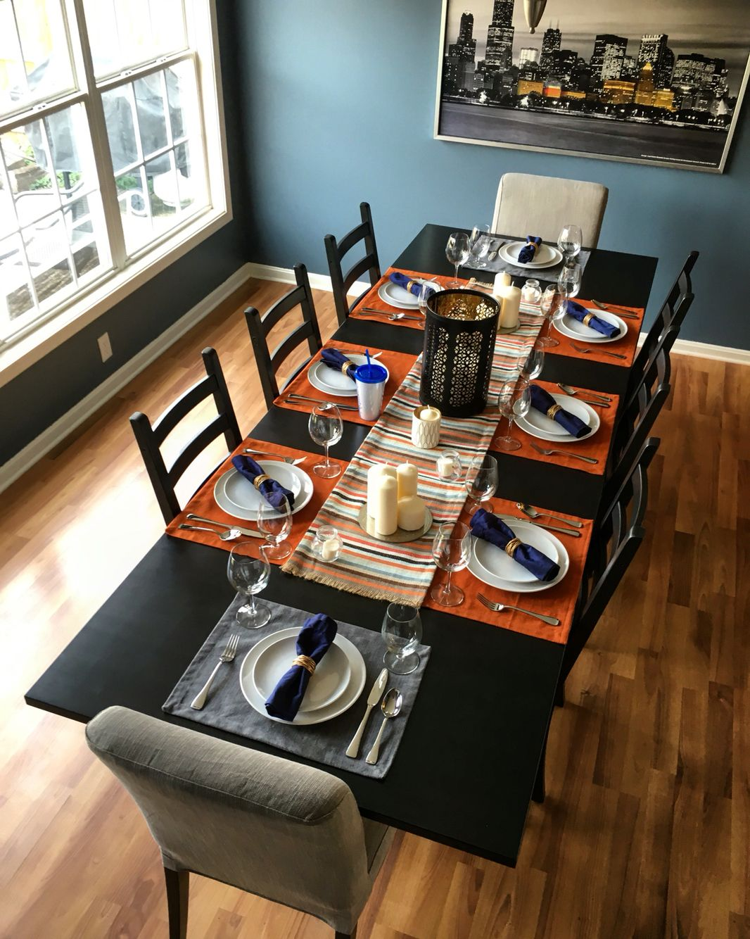My complete dining room renovation for Thanksgiving Wall Color