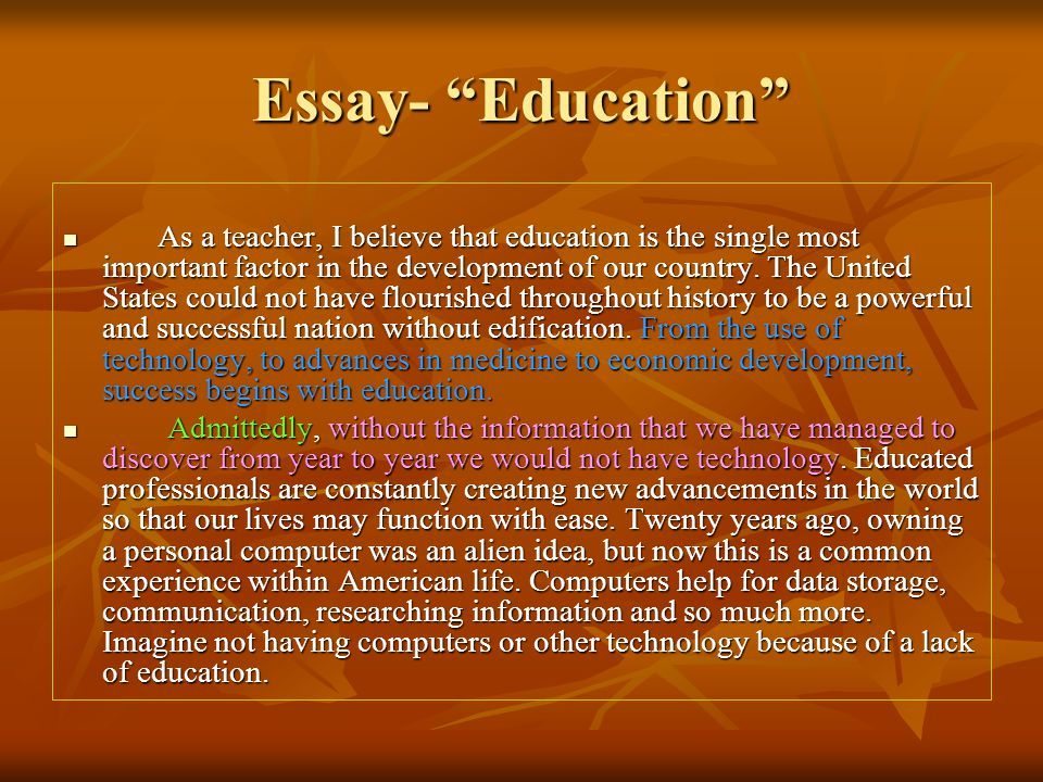 Essay topics about education
