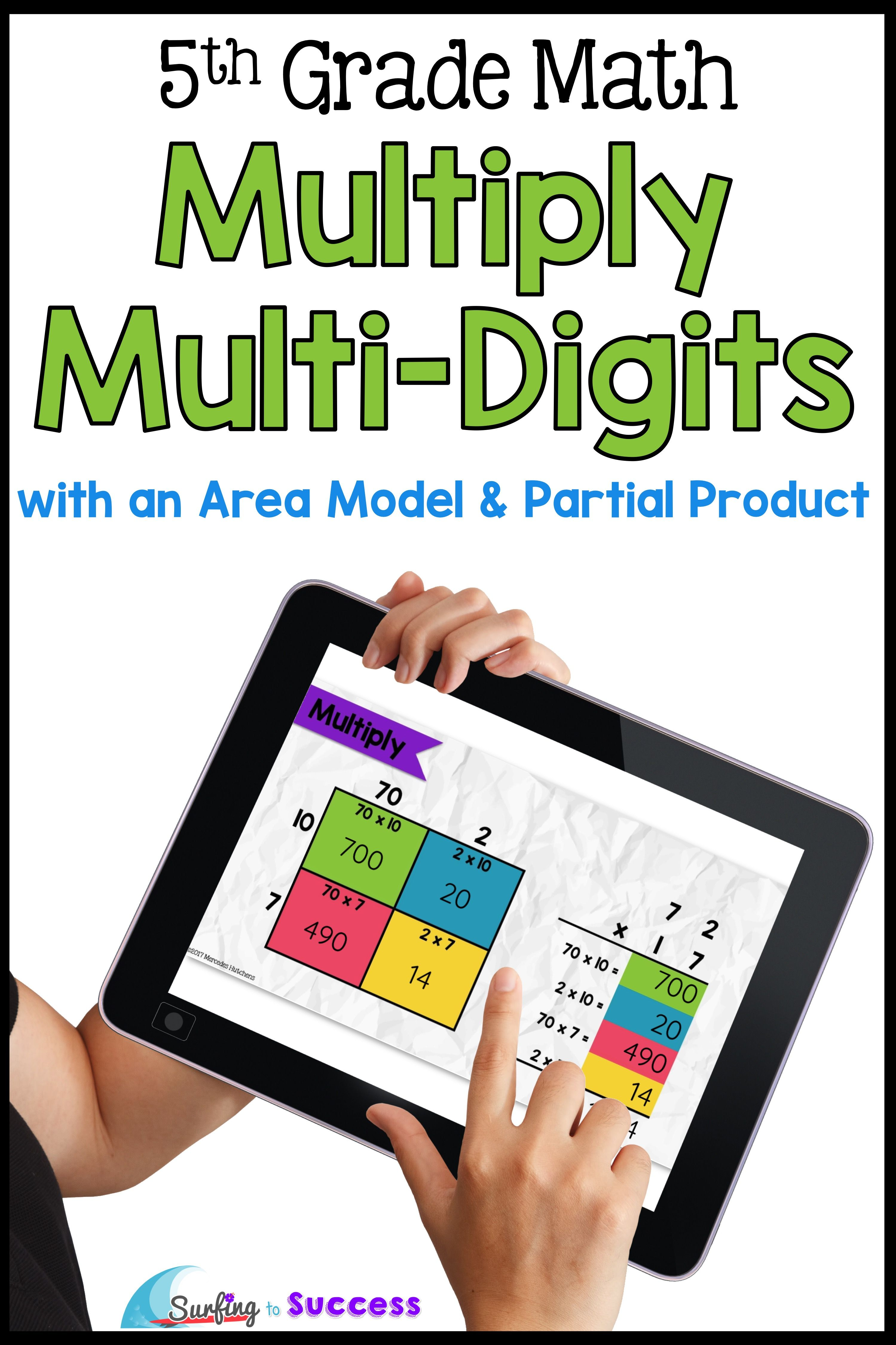 Multiply Multi Digit Numbers Area Model Amp Partial Products