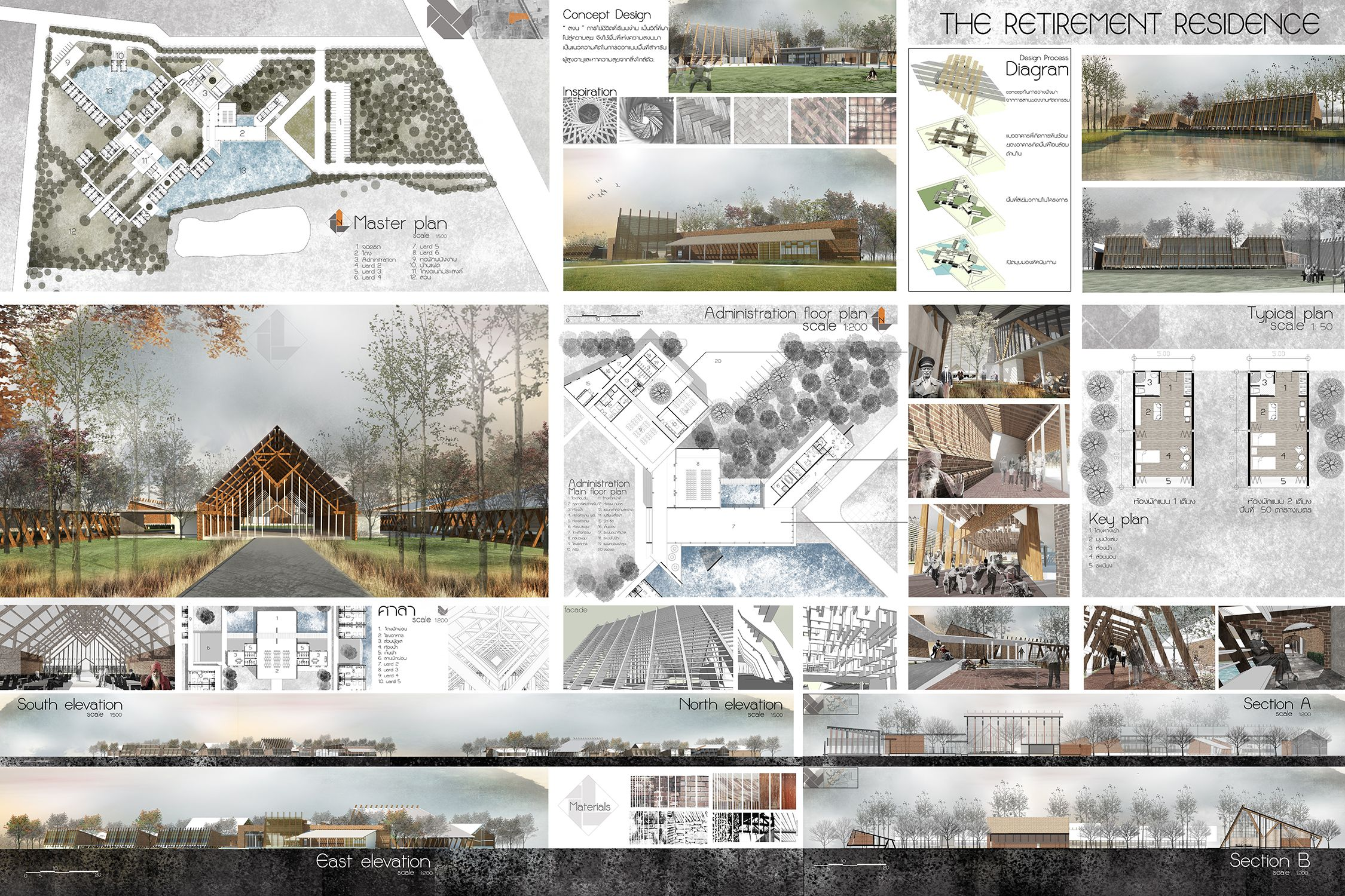 Design project Studio 3 Retirement residence located at Ayutthaya ...
